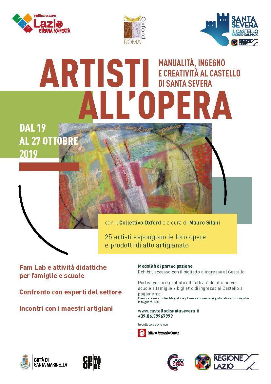 ARTISTI A L'OPERA : Manualità, Ingegno e Creatività al Castello Di Santa Severa